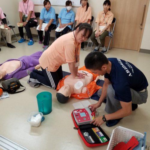 救命救急講習修了者10名!どんな時も迅速に対応出来ます!